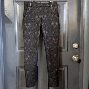 H&M Brocade Damask black skinny pants